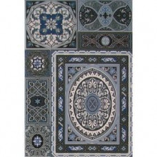 Aladdin Pattern Mix BL плитка 275x400 синяя